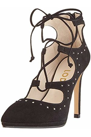 Lodi Women's Varez Closed Toe Heels, Ante Negro