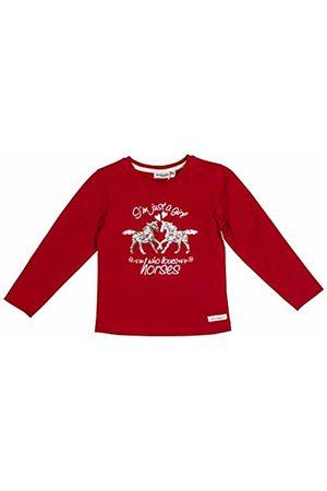 Salt & Pepper Salt and Pepper Girls' Horses Foilprint und Pailletten Longsleeve T-Shirt, (Cherry 337)