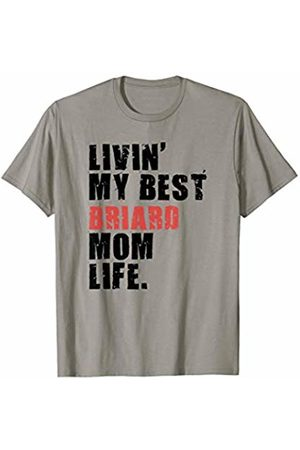 Swesly Dog Livin' My Best Briard Mom Life ADC019d T-Shirt