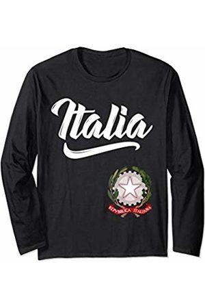 Tee Styley Italia Italian Coat of Arms Italy Italiano Family Men Women Long Sleeve T-Shirt