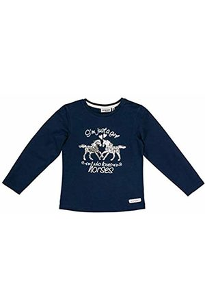 Salt & Pepper Salt and Pepper Girls' Horses Foilprint und Pailletten Longsleeve T-Shirt, (Indigo 429)