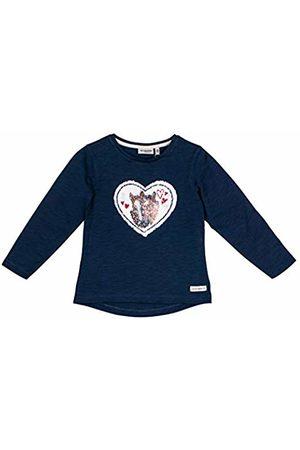 Salt & Pepper Salt and Pepper Girls' Horses Herz Love Wendepailletten Longsleeve T-Shirt, (Indigo 429)