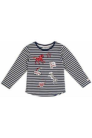 Salt & Pepper Salt and Pepper Girls' Horses mit vielen Applikationen Longsleeve T-Shirt, (Indigo 429)