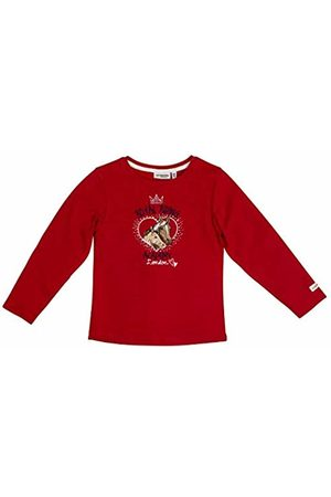 Salt & Pepper Salt and Pepper Girls' Horses Royal Riding Academy Pferdeköpfe Longsleeve T-Shirt, (Cherry 337)