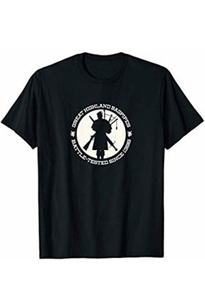 """""""Great Highland Bagpipes"""" - Bagpiper Apparel """"Great Highland Bagpipes: Battle-tested since 1396"""" T-Shirt"""