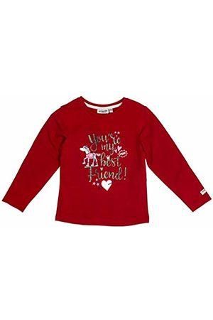 Salt & Pepper Salt and Pepper Girls' Cool & Crazy Best Friend Glitterprint Longsleeve T-Shirt, (Cherry 337)