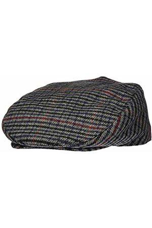 Shropshire Supplies Mens Flat Cap Wool Blend Fully Lined Tweed Dogstooth Houndstooth Herringbone (58cm)