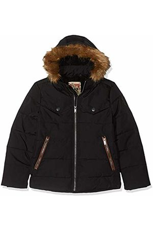 IKKS Boy's Doudoune Noire Capuche Naturelle Raincoat, 02