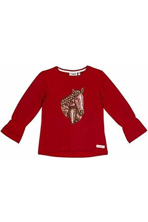 Salt & Pepper Salt and Pepper Girls' Horses Pferdekopf Stick Longsleeve T-Shirt, (Cherry 337)