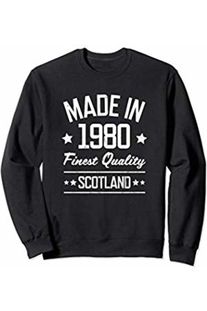 Made in 1980 Gifts for 39 Year Old Scots Women Sweatshirts - Made in 1980 Scotland Gift for 39 Year Old Man Woman Sweatshirt