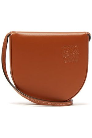 Loewe Heel Small Leather Pouch - Mens - Tan