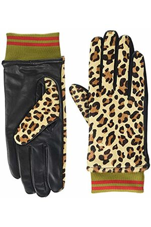 Scotch & Soda Maison Women's Printed Leather Gloves with Rib Detail