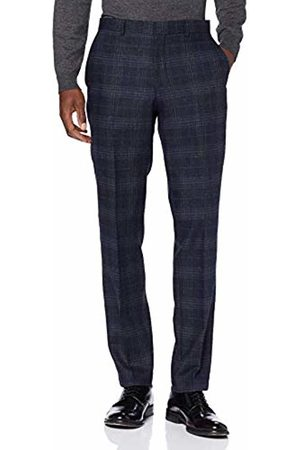 Selected Homme NOS Men's Slhslim-myloiver Chk TRS B Noos Suit Trousers, Navy Checks