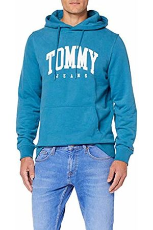 Tommy Hilfiger Men's TJM Essential Tommy Hoodie Jumper, (Saxony 413)