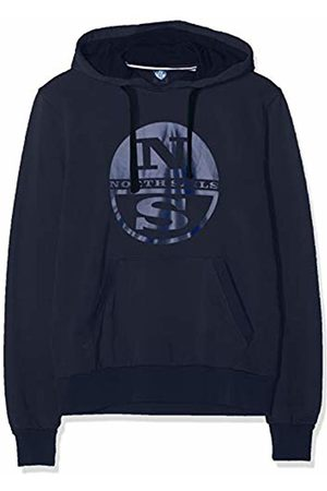North Sails Men's Hooded Sweat W/Graphic Kniited Tank Top, (Navy 802.0)