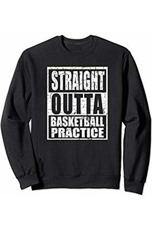 Basketball Hoops Baller Gear Basketball Distressed Look Straight Outta Practice Teen Gift Sweatshirt