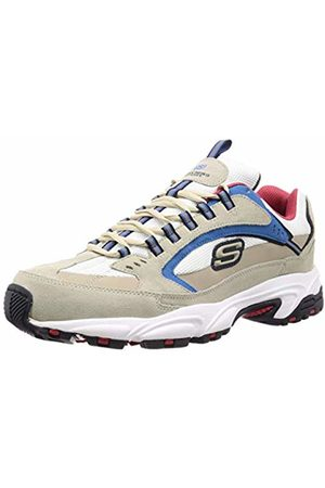 Skechers Men's Stamina- Cutback Trainers, Off- Leather/Mesh/Trim Ofwt