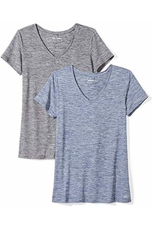 Amazon 2-Pack Tech Stretch Short-Sleeve V-Neck T-Shirt Navy Heather