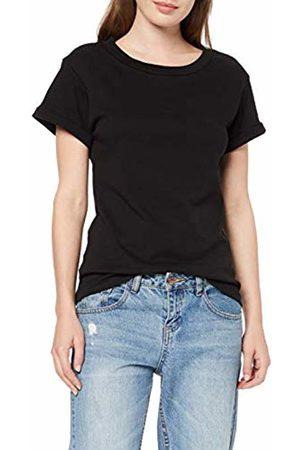 Spiral Direct Women's Urban Fashion-Boatneck Cap Sleeve Top T-Shirt, 001