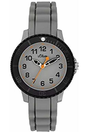 s.Oliver Boys Analogue Quartz Watch with Silicone Strap SO-3918-PQ