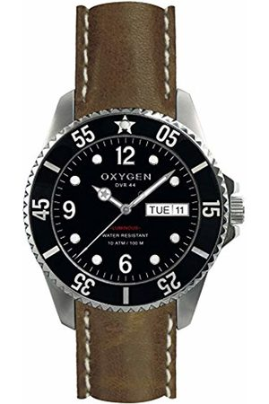 Oxygen Moby Dick 44 Mens Quartz Watch with Dial Analogue Display and Leather Strap EX-D-MOB-44-CL-DB