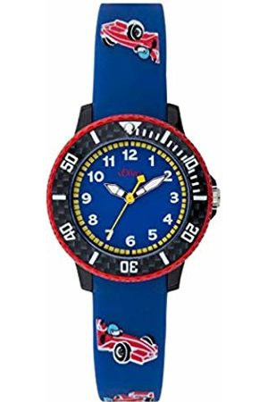 s.Oliver Unisex Child Analogue Quartz Watch with Silicone Strap SO-3603-PQ