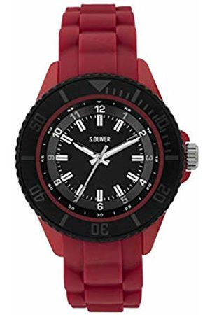 s.Oliver Boys Analogue Quartz Watch with Silicone Strap SO-3919-PQ