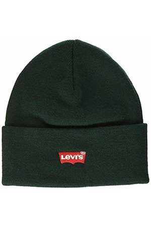 Levi's Men's Red Batwing Embroidered Slouchy Beanie Dark 34
