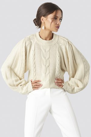 NA-KD Women Jumpers & Sweaters - Chunky Cable Knitted Sweater - White