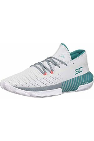 Under Armour Men's SC 3ZER0 III Basketball Shoes, (Halo Ash Gray/Teal Rush 101)