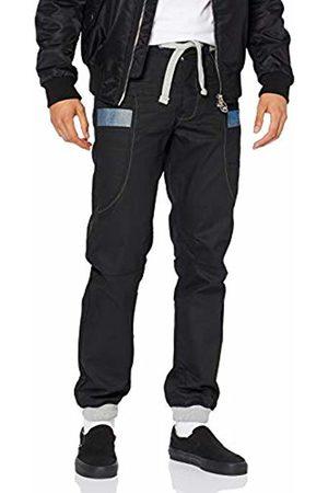 Enzo Men's Ez367 Tapered Fit Jeans, Blk