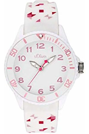 s.Oliver Girls Analogue Quartz Watch with Silicone Strap SO-3921-PQ