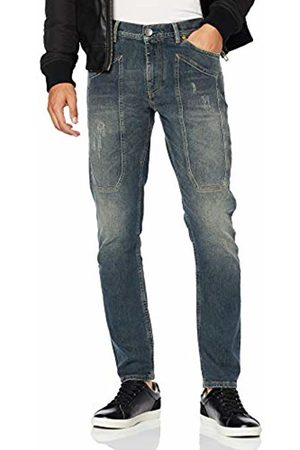 Jeckerson Men's 5pkts Patch Tapered Fit Jeans