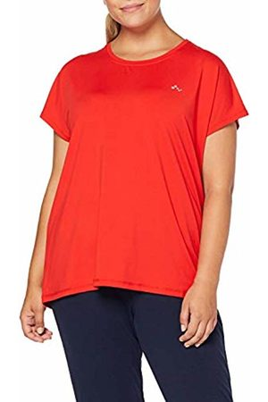 ONLY Play Curvy Women's Onpaubree Ss Loose Tr Tee Curvy-Opus Sports Shirt, Flame Scarlet