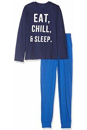 Lenny Sky Boys Pyjamas - Boy's Eg.Junk.py Pyjama Set, Marine/Bleu