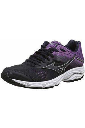 Mizuno Women Shoes - Women's Wave Inspire 15 Running Shoes, Graphite/Chineseviolet 53