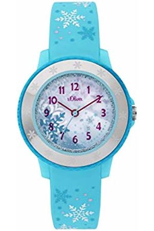 s.Oliver Girls Analogue Quartz Watch with Silicone Strap SO-3913-PQ
