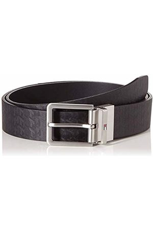 Tommy Hilfiger Men's Modern Rev Monogram Leather Belt 0gj)