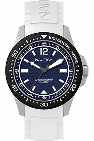 Nautica Mens Analogue Quartz Watch with Rubber Strap NAPMAU004