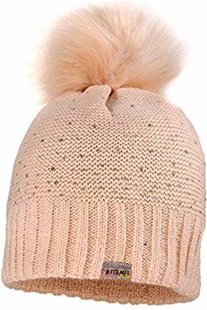 maximo Girl's Mit Kunstfellpompon Und Studs Hat