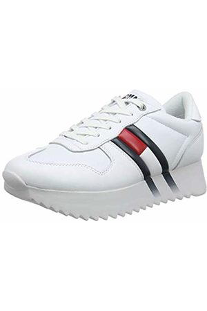 Tommy Hilfiger Women's High Cleated Corporate Sneaker Low-Top, (( Ybs)