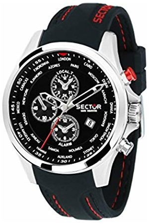 Sector Mens Chronograph Quartz Watch with Silicone Strap R3251180022