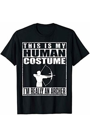 Last Minute Shenanigans My Human Costume I'm An Archer Halloween Archery Sports T-Shirt