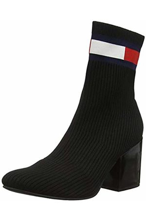 Tommy Hilfiger Women's Flag Sock Mid Heel Boot Ankle, (( Bds)