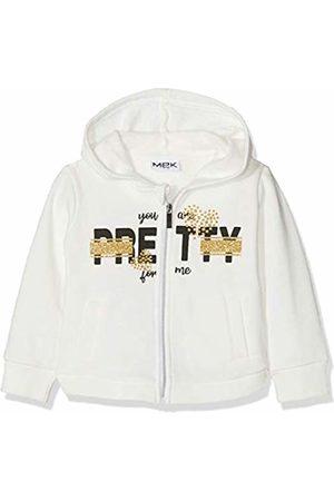 MEK Girls Hoodies & Sweatshirts - Baby Girls Full Zipper Felpa Garzata Con Cappuccio Sports Hoodie