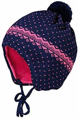 maximo Baby Girls' Mit Pünktenmuster Minipompon Und Bindeband Hat