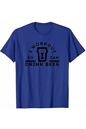 Gym Gags I Workout So I Can Drink Beer: Funny Gym Drinking T-Shirt
