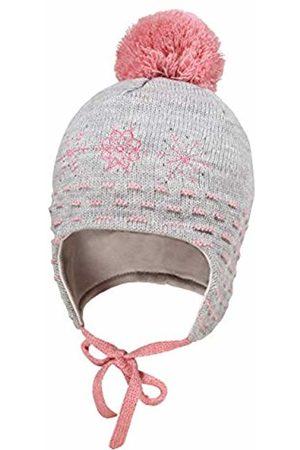 maximo Baby Girls' Mit Snow Flake Strass Pompon und Bindeband Hat