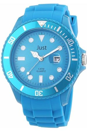 Just Watches Men's Quartz Watch Rubber Strap Collection 48-S5458-HBL with Plastic Strap