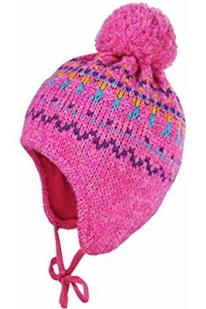 maximo Baby Girls' Mit Struktur Pompon und Bindeband Hat